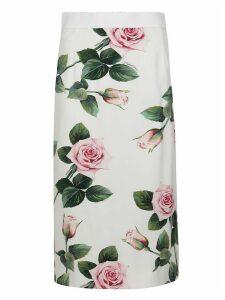 Dolce & Gabbana High-rise Floral Skirt
