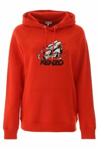 Kenzo Graphic Print Hooded Sweatshirt