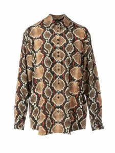 Burberry Python Printed Silk Shirt