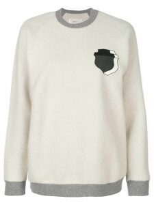 Julien David shield print sweatshirt - White