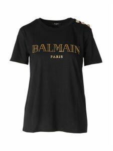 Balmain 3 Btn Metallic Vintage Logo T-s