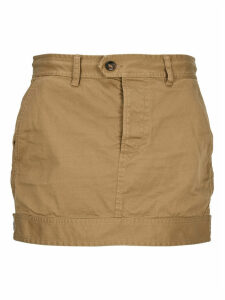 D Squared Cotton Twill Military Skirt