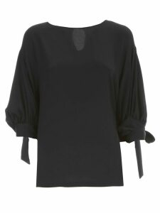 Erika Cavallini Dean Shirt Silk Wide Sleeve W/knot
