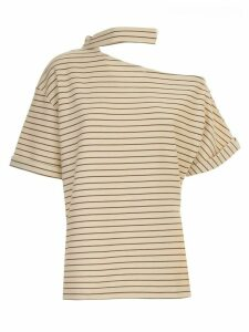 Erika Cavallini Linda T-shirt Asymmetric Neck W/stripes