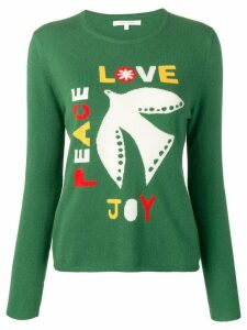 Chinti & Parker Joy, Peace, Love jumper - Green