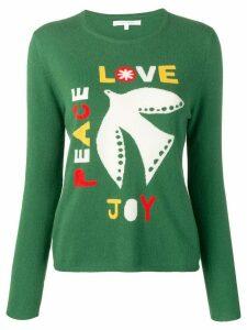 Chinti & Parker Joy, Peace, Love jumper - Green