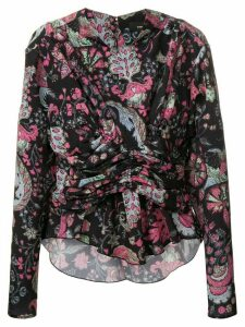 Isabel Marant gathered printed top - Black