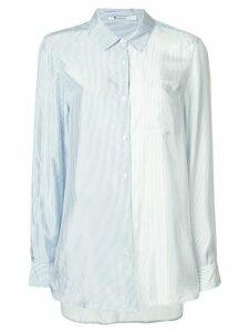 T By Alexander Wang shiny striped shirt - Blue