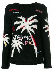 Ermanno Ermanno cashmere palm tree intarsia jumper - Black