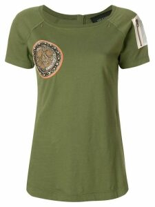 Mr & Mrs Italy zip-detailed T-shirt - Green