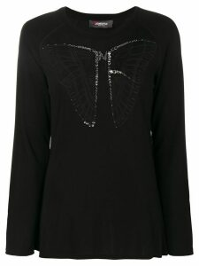 Jo No Fui butterfly longsleeved top - Black