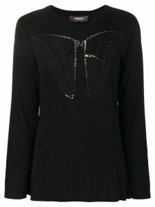 Jo No Fui butterfly longsleeved top - Black