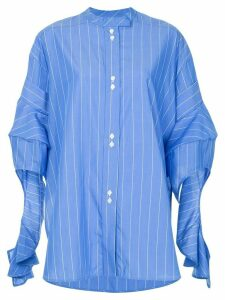 Ellery Goldman draped shirt - Blue