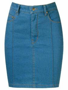 Amapô high waist denim skirt - Blue