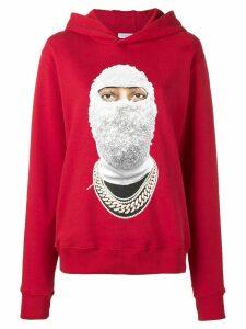 Ih Nom Uh Nit face printed hoodie - Red