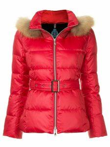 Guild Prime fur hood trim puffer jacket - Red