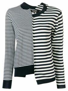 Junya Watanabe deconstructed striped sweatshirt - Blue