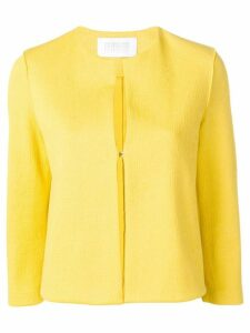 Harris Wharf London textured cropped jacket - Yellow