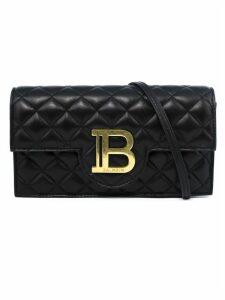Balmain Shoulder Bag In Black Calfskin