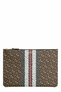 Burberry Coated Canvas Clutch