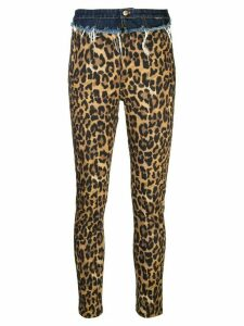 Nicole Miller Furry Leopard skinny jeans - Brown