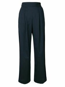 Sueundercover pinstripe pleated trousers - Blue