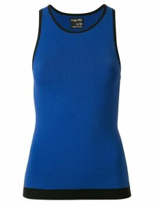 Nagnata black trim racerback tank top - Blue