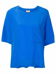 Nude loose fit top - Blue