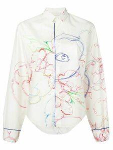 Rohka sketch print shirt - White