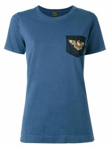 Mr & Mrs Italy eagle embroidered T-shirt - Blue