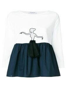 Vivetta ballerina peplum top - White