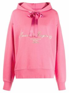 Mm6 Maison Margiela ribbon detail hoodie - PINK