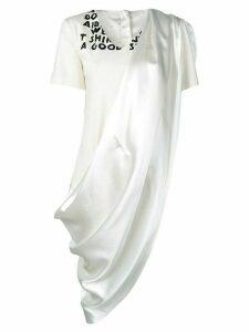 Mm6 Maison Margiela dress panelled T-shirt - NEUTRALS
