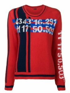 Ermanno Scervino numbered intarsia jumper