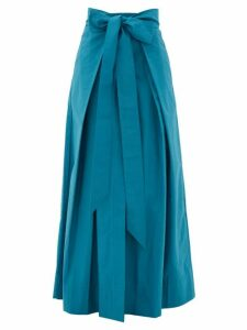 Kalita - Avendon Tie-waist Cotton Maxi Skirt - Womens - Green