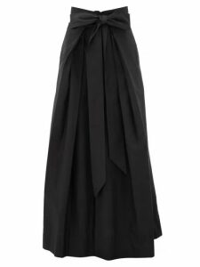 Kalita - Avendon Tie-waist Cotton Maxi Skirt - Womens - Black