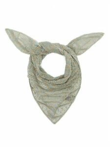 M Missoni - Metallic Knitted-mesh Bandana - Womens - Light Blue