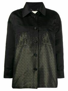 Fendi duchess shirt style jacket - Black