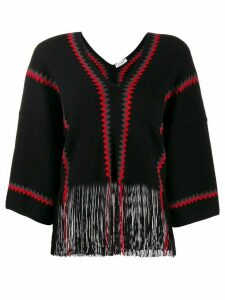 Sonia Rykiel two tone knitted jumper - Black