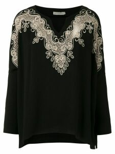 Martha Medeiros Kimora lace blouse - Black