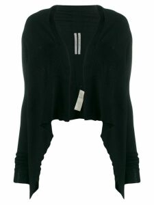 Rick Owens cropped draped cardigan - Black