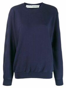 Off-White tonal logo sweatshirt - Blue