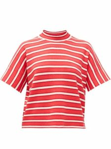 Barrie - Striped Cashmere Sweater - Womens - Red White