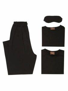 Albus Lumen - Merino-wool Jersey Travel Set - Womens - Black