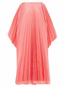 Roksanda - Oleria Dolman-sleeve Pleated Taffeta Gown - Womens - Pink