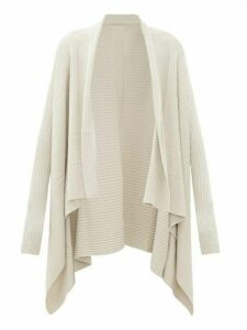 Rick Owens - Waterfall-collar Ribbed-wool Cardigan - Womens - Cream