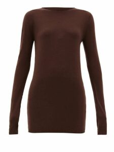 Rick Owens - Raw Boat-neck Wool Sweater - Womens - Brown