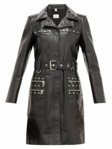 Burberry - Harewood Leather Trench Coat - Womens - Black