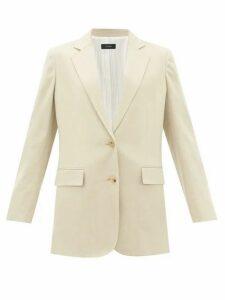 Joseph - Mayfield Single-breasted Linen-blend Blazer - Womens - Light Beige