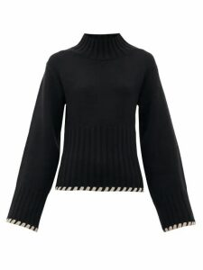 Khaite - Colette High-neck Cashmere Sweater - Womens - Black